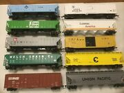 Ho Scale Rolling Stock,metal Wheels,knuckle Couplers, Lo Of 10