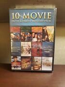 10 Movie Faith And Family Holiday Pack Dvd, 2013, 3-disc Set Christmas New Sealed