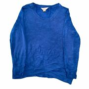 Christopher And Banks Mens Long Sleeve Blue Top Sweatshirt Small S