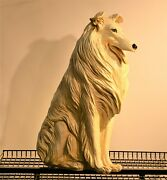 Vintage 1960s Marwal Inc. Full Life Size 30 Collie Dog Statue