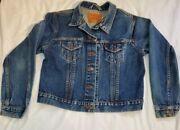 Levi's Blue Denim Trucker Jacket Large Made In The Usa 77597-2828