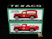 Spec Cast 72060 And 74073 Texaco 1936 Dodge Panel And Tanker Trucks 125th Die-cast