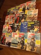 Vintage Outdoor Life Magazine Lot Of 20-1950s