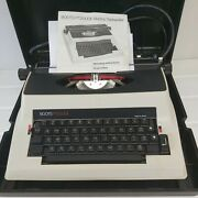 Vintage 1980 Boots Pt2000e Typewriter Electric Secretary Geek Black And Red Ink