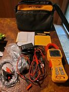 Fluke 345 Power Quality Clamp Meter And Accessories In Soft Case. Excellent