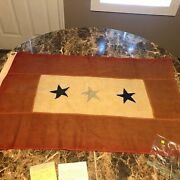 Wwi And Wwii Father/son-in-service Banner Flag Oneonta Ny C.l Slade Collection