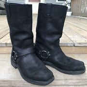 Harley Davidson Bowden Boots Mens Size 11 D93477 Harness Black Motorcycle Riding
