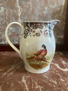 New Spode Woodland Pheasant Pitcher Fall Thanksgiving