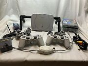 Sony Playstation Ps One Slim With Five Games And Five Memory Cards