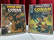 Savage Tales Featuring Conan The Barbarian 2 And 3 1973 Great Shape Key