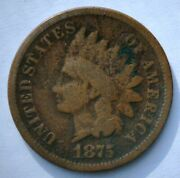 1875 Indian Head Cent Better Date Good Condition Free Us Shipping Set Break G75