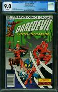 Daredevil 174 Cgc 9.0 White Pages Frank Miller Written On Page 1 1981 L2