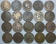 20 Indian Head Cent/penny-lot Culls/20 Junk Coins Free Shipping 25g