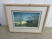 Terry Redlin Framed Signed And Numbered Evening Retreat 184/3000 Ducks Unlimited
