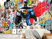 3d Superman Doodle Zhua25 Wallpaper Wall Murals Removable Self-adhesive Amy