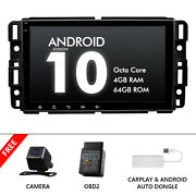 Obd+cam+carplay+in Dash Car Radio Android 10 8 Ips 4+64gb Gps For Chevrolet Gmc