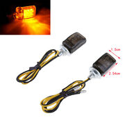 2pcs Led Micro Mini Small Amber Indicator Turn Signals Blinkers For Motorcycle