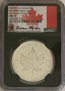 Rare Set Of Two Canadian W 5 1oz Silver Burnished Maple Coins