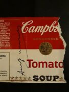 Warhol Vintage Rare Art Hand Signed No Print Tomato Soup Campbell's Label