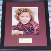Shirley Temple Autograph Signed Autographed Framed With Vintage 8x10 Color Photo