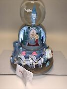 Disney Cinderella Double Snow Globe-a Dream Is A Wish Your Heart Makes-music Box