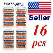 16 Pcs 5 Blade Razor Menand039s Refill Cartridge Replacements Fast Ship Usa