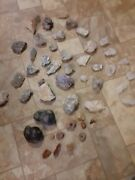 Crystals, Rocks, Minerals Fossils Lot Of 47 12 Pounds