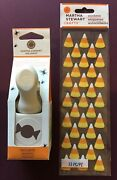 New Martha Stewart Hard Candy Paper Punch And Stickers Halloween Rare Vhtf 🍬🍬