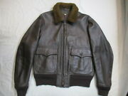 Real Mccoy's Leather Flight Jacket Brown 42 Size Buaer Us Navy G-1 From Japan