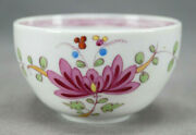Meissen Hand Painted Multicolor Indian Tree Twisted Handle Tea Cup Circa 1740s