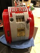 1946 Daval Free Play Coin Op Trade Stimulator Slot Machine Gumball Vending