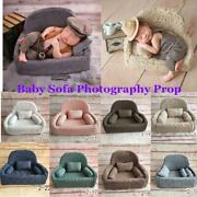 Newborn Baby Photo Props Small Sofa Seat Photography Pose Shoot Chair 3 Cushions