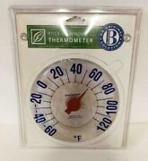 Brookstone Self Stick Clear Outdoor Window Thermometer Nos Original Package