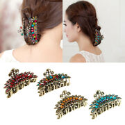 4 Pieces Rhinestone Crystals Beaded Bling Bling Hair Clips Bridal Wedding Party