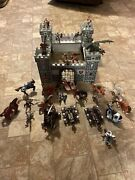 Micki Wooden Knights Castle And 30 Medieval Figures,horses, Dragon Catapults