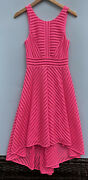 Lilly Pulitzer Tilly Dress Small Neon Pink Lace A Line Party Cocktail 4 6 Hi Lo