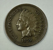 1878 Indian Head Cent Extra Fine