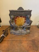 Art Deco Scene-in-action Motion Lamp Fireplace Mantle Colonial Metal Vintage