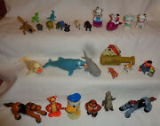 K And M Disney Plastic Figure Lot 26 Toys Dinosaurs Horse Dogs Sea Animals Therapy