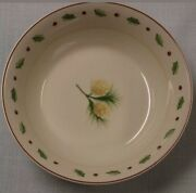 Merry Brite Holiday Home Soup/cereal Bowl Plates Pine Cone Lot 6 New Christmas
