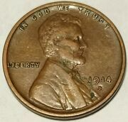 1914 D Lincoln Cent Wheat Penny Xf+ Condition Sweet Find