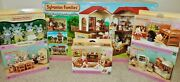 New Sylvanian Bundle, Red Roof Country Home + 4 Furniture Sets + Labrador Family
