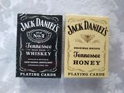 2 Mint/sealed Jack Daniels Old No. 7/tennessee Honey Playing Card Decks Uspcc