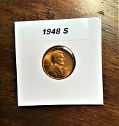 Uncirculated 1948 S Lincoln Wheat Penny