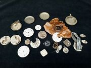Vintage Watch Parts Waltham Elgin Boluva Reliance And Others Pocket Watch Parts