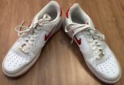 Nike Air Force 1 Shoes Size 12 Jewel Red White Low Top 488298-117 2012