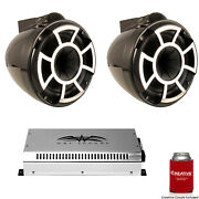 Wet Sounds 8 Black Tower System Rev8b-x 8 Tower Speakers And Syn2 700 Watt Amp