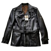 Lewis Leathers Aviakit Mens Leather Jacket Motorcycle Rider Biker Ss New Black L