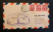 1931 Indianapolis Indiana First Flight Am 34 Cover To Long Beach California