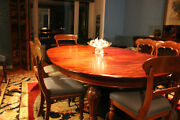 19th C Antique American Sheraton Mahogany 10 Ft. Dining Table 12 Chairs